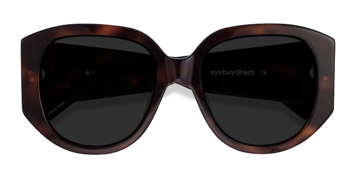 Tortoise Bianca -  Vintage Acetate Sunglasses