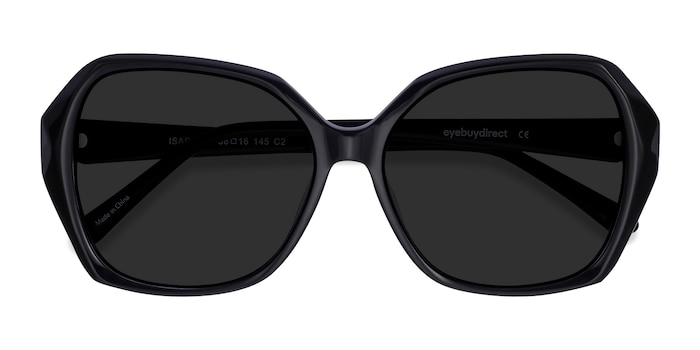 Black Isabella -  Vintage Acetate Sunglasses
