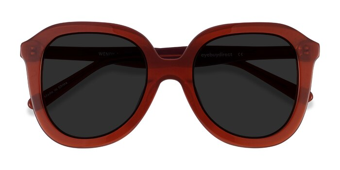 Burgundy Wendy -  Vintage Acetate Sunglasses