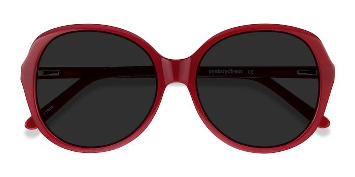 Burgundy Sheila -  Vintage Acetate Sunglasses