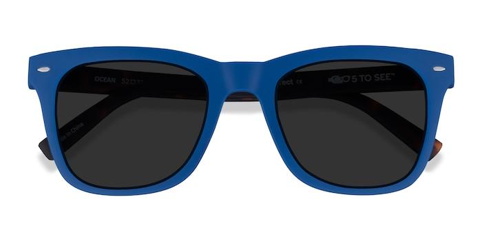 Atlantic Blue & Warm Tortoise Ocean -  Plastic Sunglasses