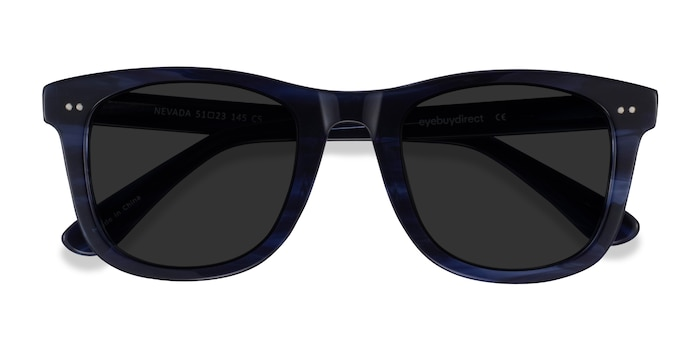 Blue Striped Nevada -  Acetate Sunglasses
