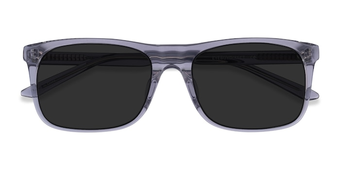 Clear Gray Silvio -  Acetate Sunglasses