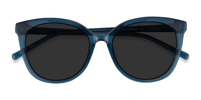 Clear Teal Cinematic -  Acetate Sunglasses