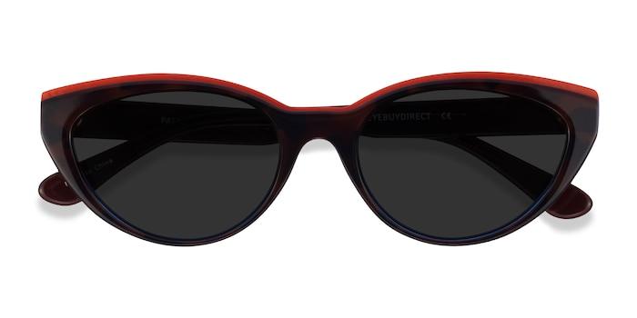 Red Tortoise Blue Palm Beach -  Acetate Sunglasses