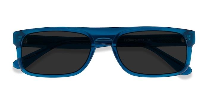 Clear Blue Grayton -  Acetate Sunglasses