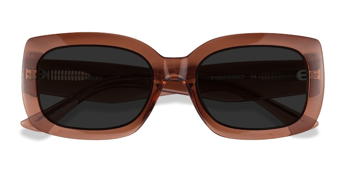 Clear Brown Courteney -  Acetate Sunglasses