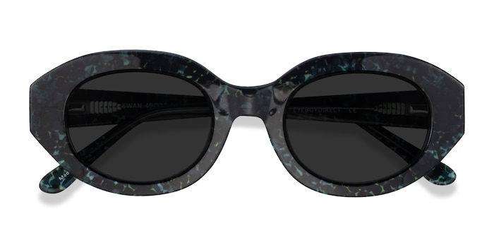 Floral Swan -  Acetate Sunglasses