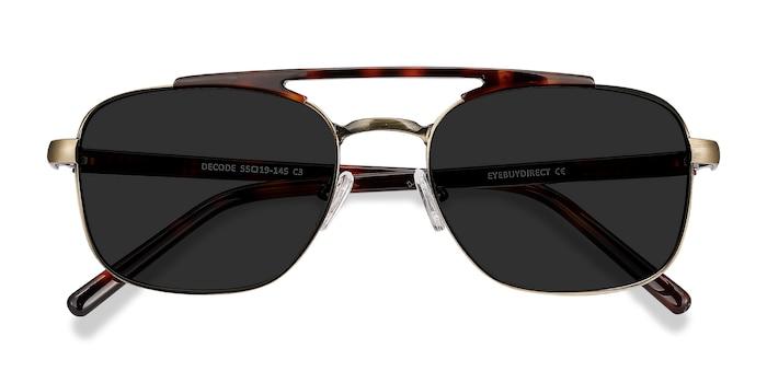 Tortoise Bronze Decode -  Vintage Acetate Sunglasses
