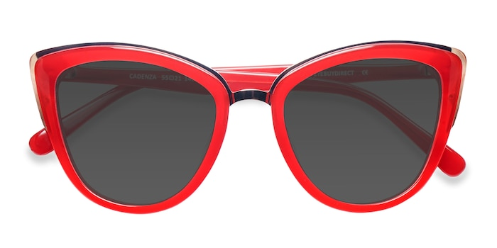 Red Cadenza -  Metal Sunglasses
