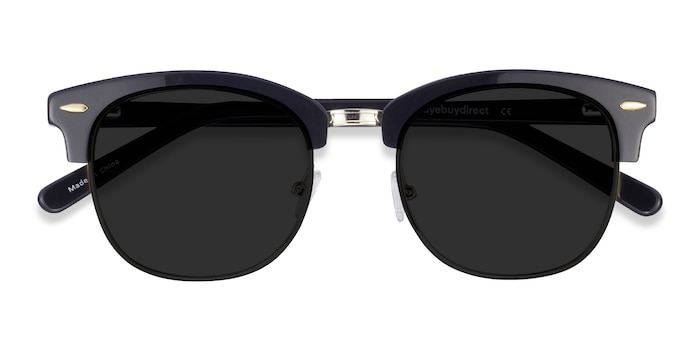 Black Strata -  Vintage Acetate Sunglasses