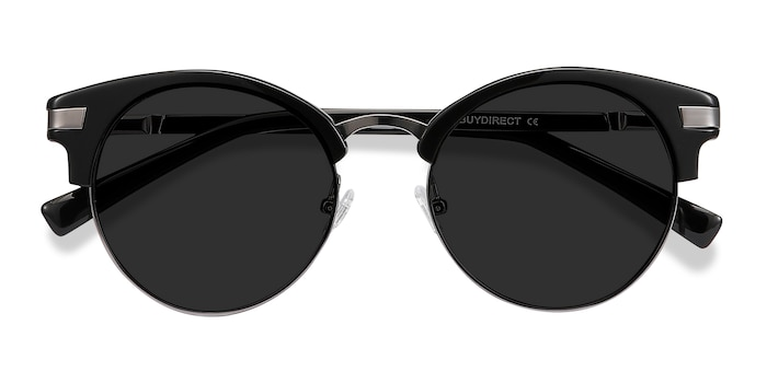 Black Kiri -  Vintage Metal Sunglasses