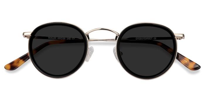 Black Rollin -  Vintage Metal Sunglasses
