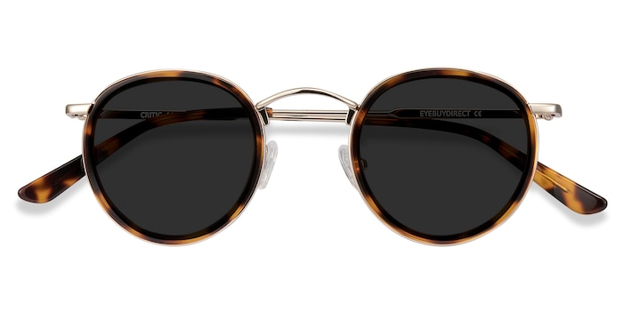 Tortoise Critic -  Vintage Acetate Sunglasses