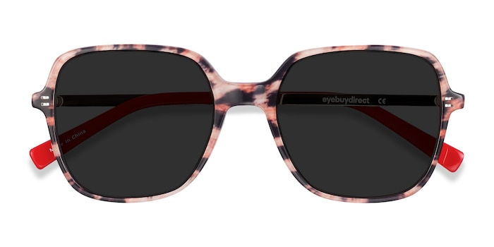 Leopard & Gold Olga -  Vintage Acetate, Metal Sunglasses