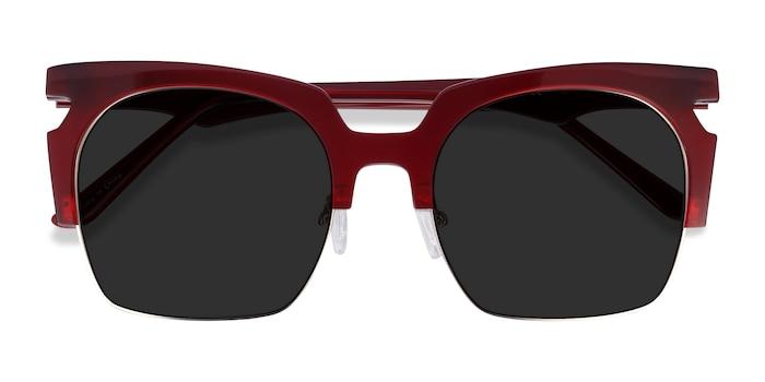 Burgundy Ilsa -  Acetate, Metal Sunglasses