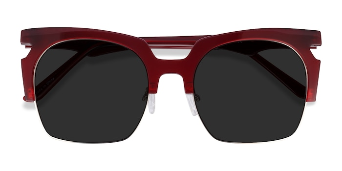 Burgundy Ilsa -  Acetate Sunglasses