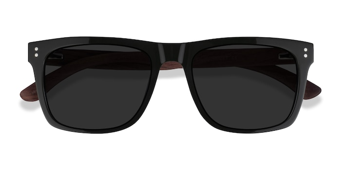 Dark Green & Wood Grow -  Wood Texture Sunglasses