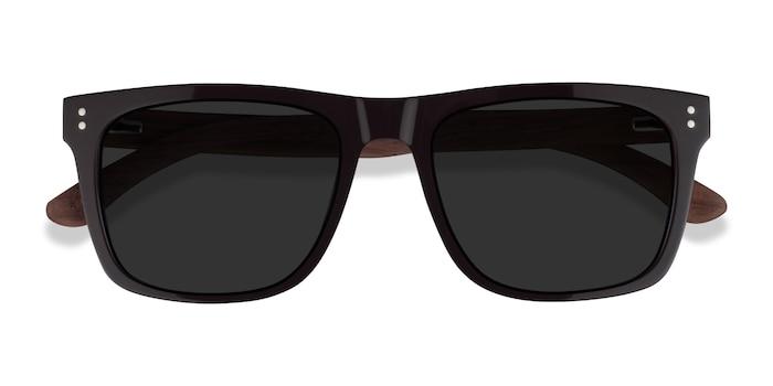 Dark Brown & Wood Grow -  Wood Texture Sunglasses