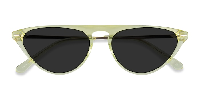 Clear Yellow Satellite -  Acetate Sunglasses