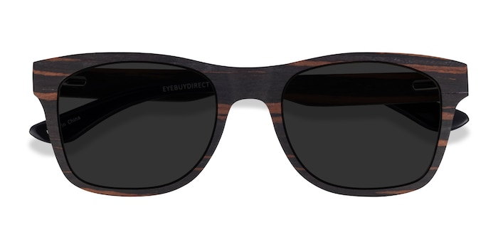 Striped Wood Bosk -  Wood Texture Sunglasses