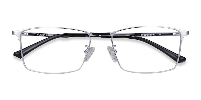 Silver Decider -  Lightweight Titanium Eyeglasses