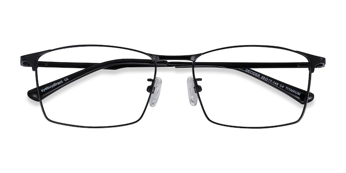 Black Decider -  Lightweight Titanium Eyeglasses