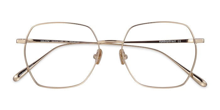 Gold Holistic -  Lightweight Titanium Eyeglasses