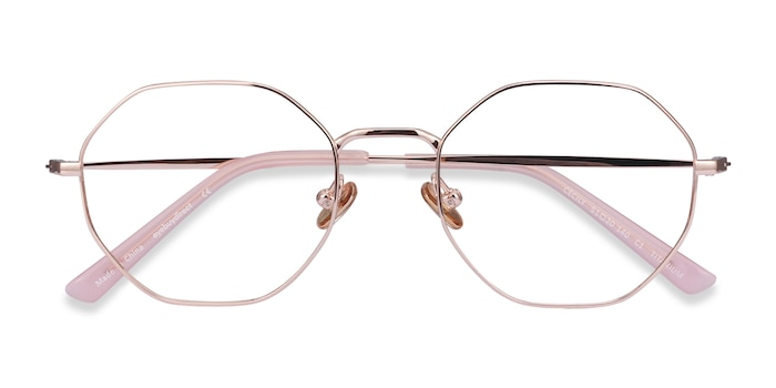 Rose Gold Cecily -  Lightweight Titanium Eyeglasses