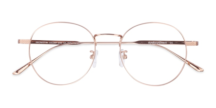 Rose Gold Geometry -  Lightweight Titanium Eyeglasses