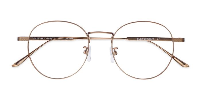 Bronze Geometry -  Lightweight Titanium Eyeglasses
