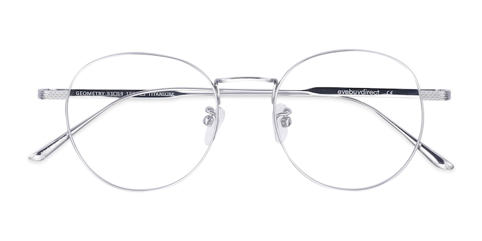 Silver Geometry -  Fashion Titanium Eyeglasses