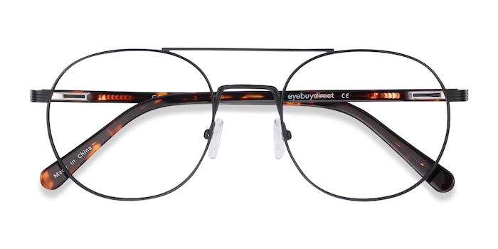 Black Gordon -  Lightweight Titanium Eyeglasses
