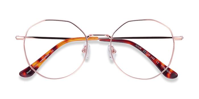 Rose Gold Julia -  Lightweight Titanium Eyeglasses