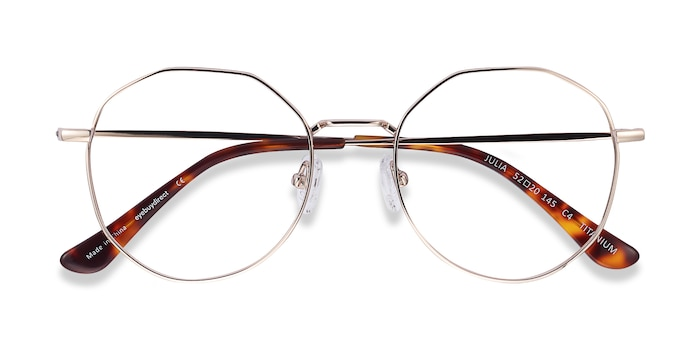 Gold Julia -  Lightweight Titanium Eyeglasses