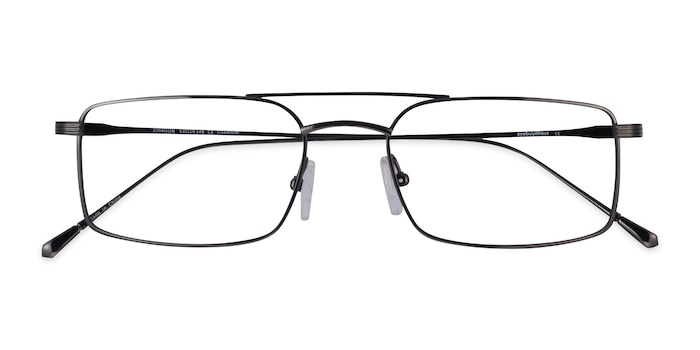 Dark Gunmetal Johnson -  Titane Lunette de Vue