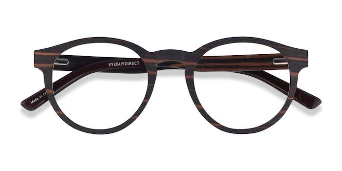 Striped Dark Wood Jungle -  Wood Texture Eyeglasses