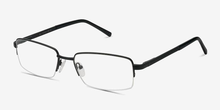 Axis Black Metal Eyeglass Frames from EyeBuyDirect, Angle View