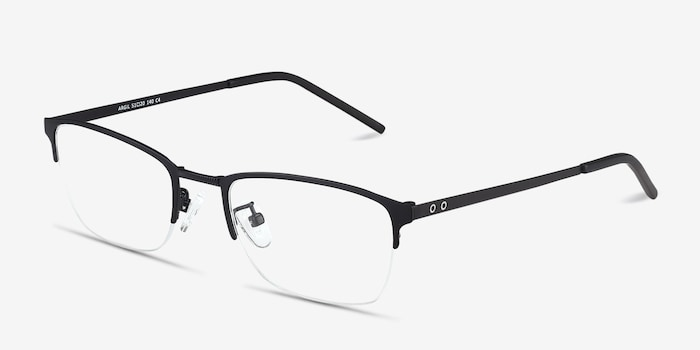 Argil Matte Black  Metal Eyeglass Frames from EyeBuyDirect, Angle View