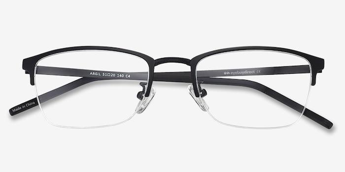 Argil Matte Black  Metal Eyeglass Frames from EyeBuyDirect, Closed View