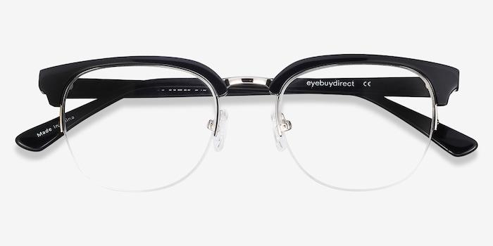 Genbu  Black  Acetate Eyeglass Frames from EyeBuyDirect, Closed View