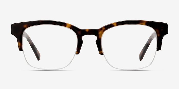 Luxe Tortoise Acetate Eyeglass Frames from EyeBuyDirect, Front View