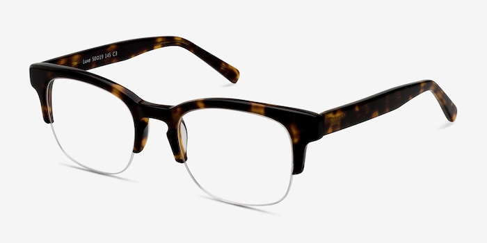Luxe Tortoise Acetate Eyeglass Frames from EyeBuyDirect, Angle View