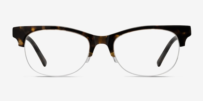 Luna Tortoise Acetate Eyeglass Frames from EyeBuyDirect, Front View