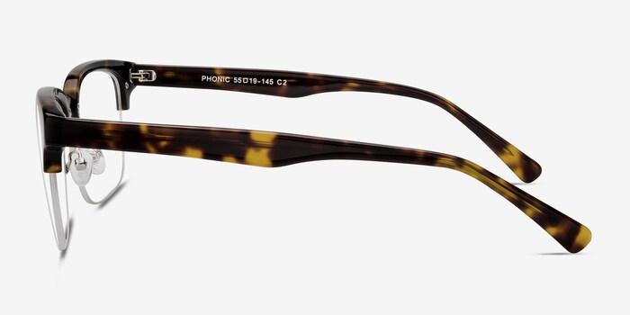 Phonic Tortoise Acetate Eyeglass Frames from EyeBuyDirect, Side View