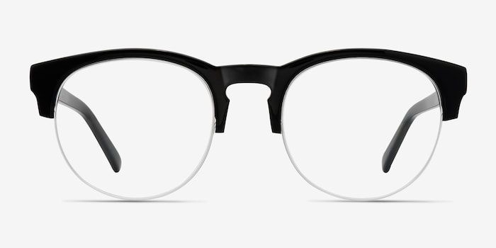 Zoot Black Acetate Eyeglass Frames from EyeBuyDirect, Front View