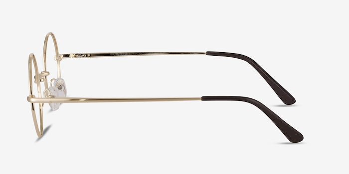 Abazam Golden Metal Eyeglass Frames from EyeBuyDirect, Side View