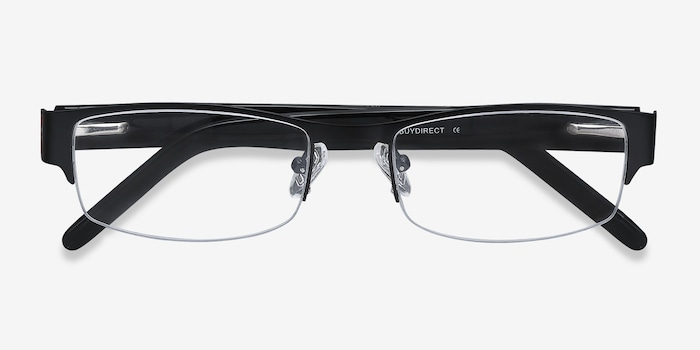 Chilliwack Black Metal Eyeglass Frames from EyeBuyDirect, Closed View