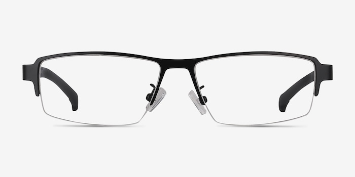 Lewis Black Metal Eyeglass Frames from EyeBuyDirect, Front View