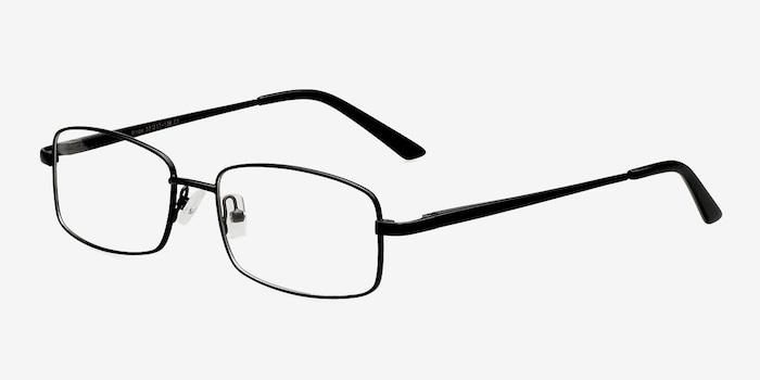 Brodie Black Metal Eyeglass Frames from EyeBuyDirect, Angle View